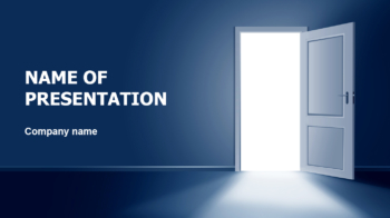 Open The Door PowerPoint theme