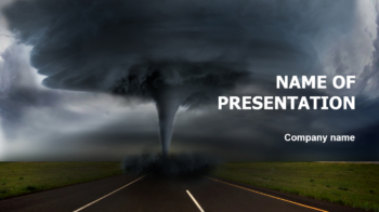 Terrible Hurricane PowerPoint theme