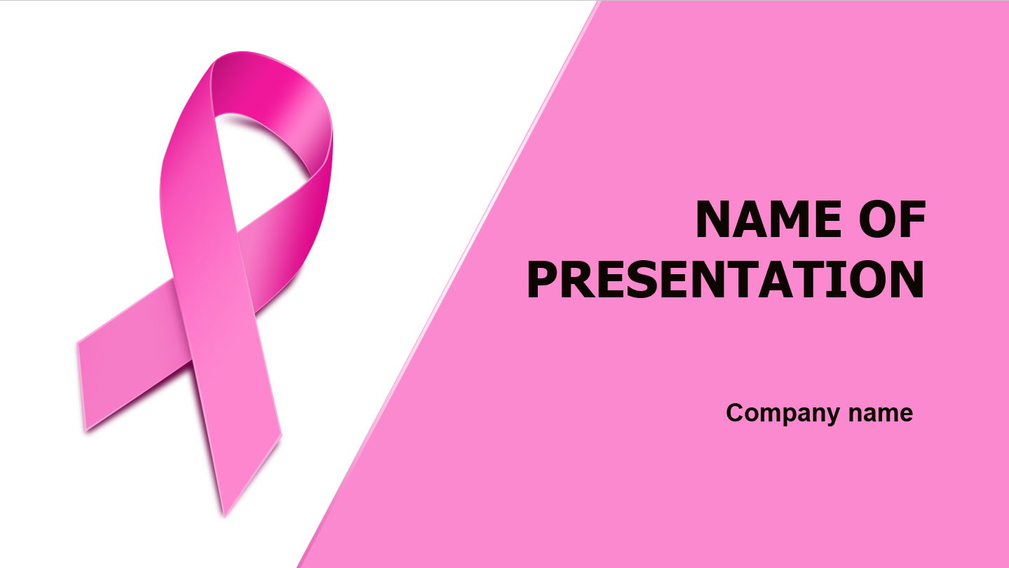 breast cancer powerpoint presentation templates - download free women breast health powerpoint theme for