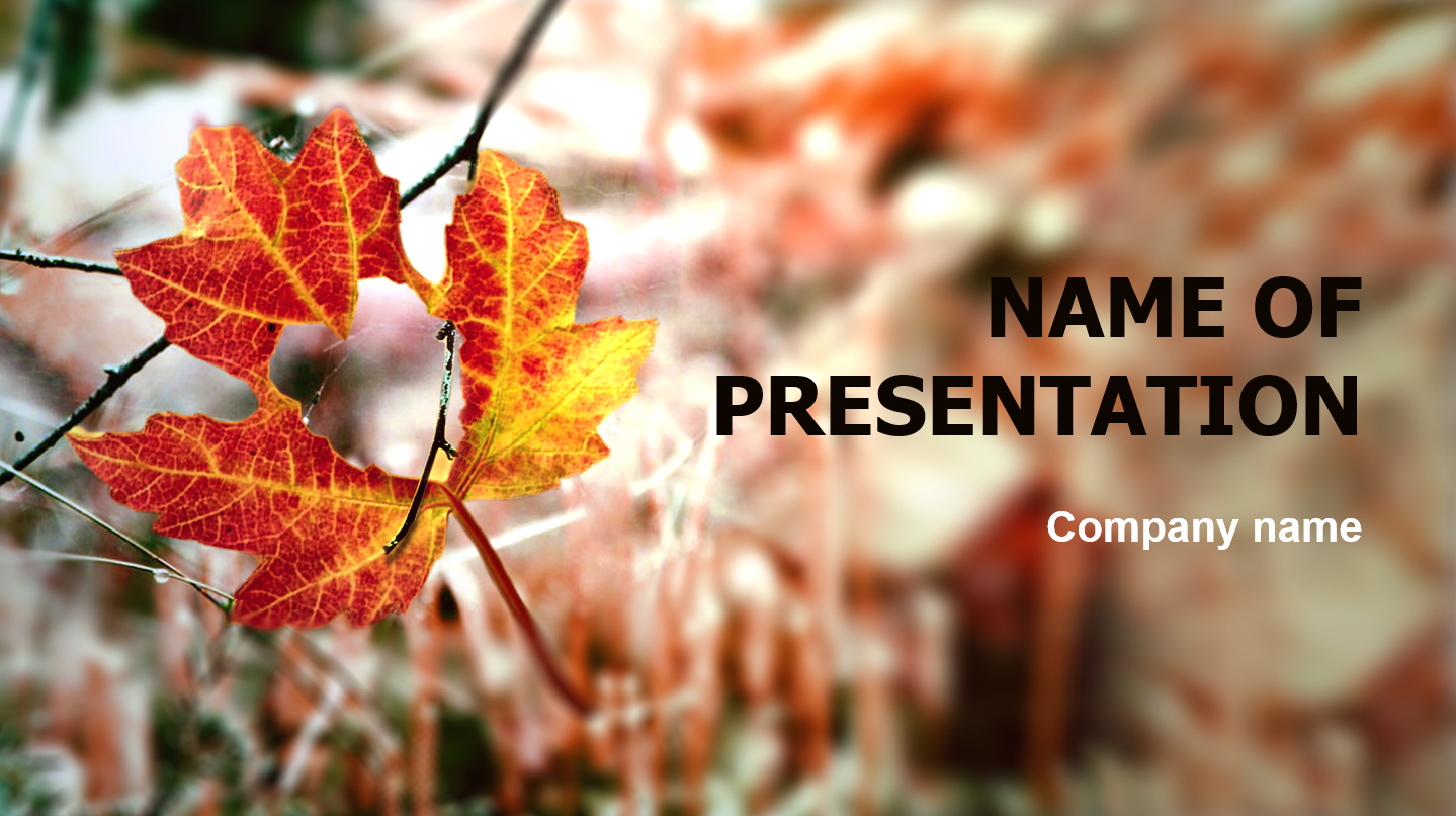 Download Free Autumn Season Powerpoint Theme For Presentation