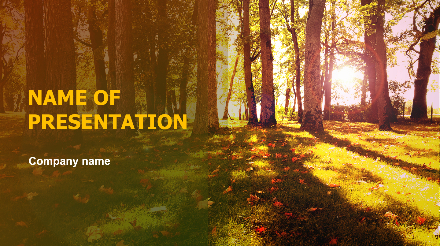 Download Free Autumn Weather Powerpoint Theme For Presentation