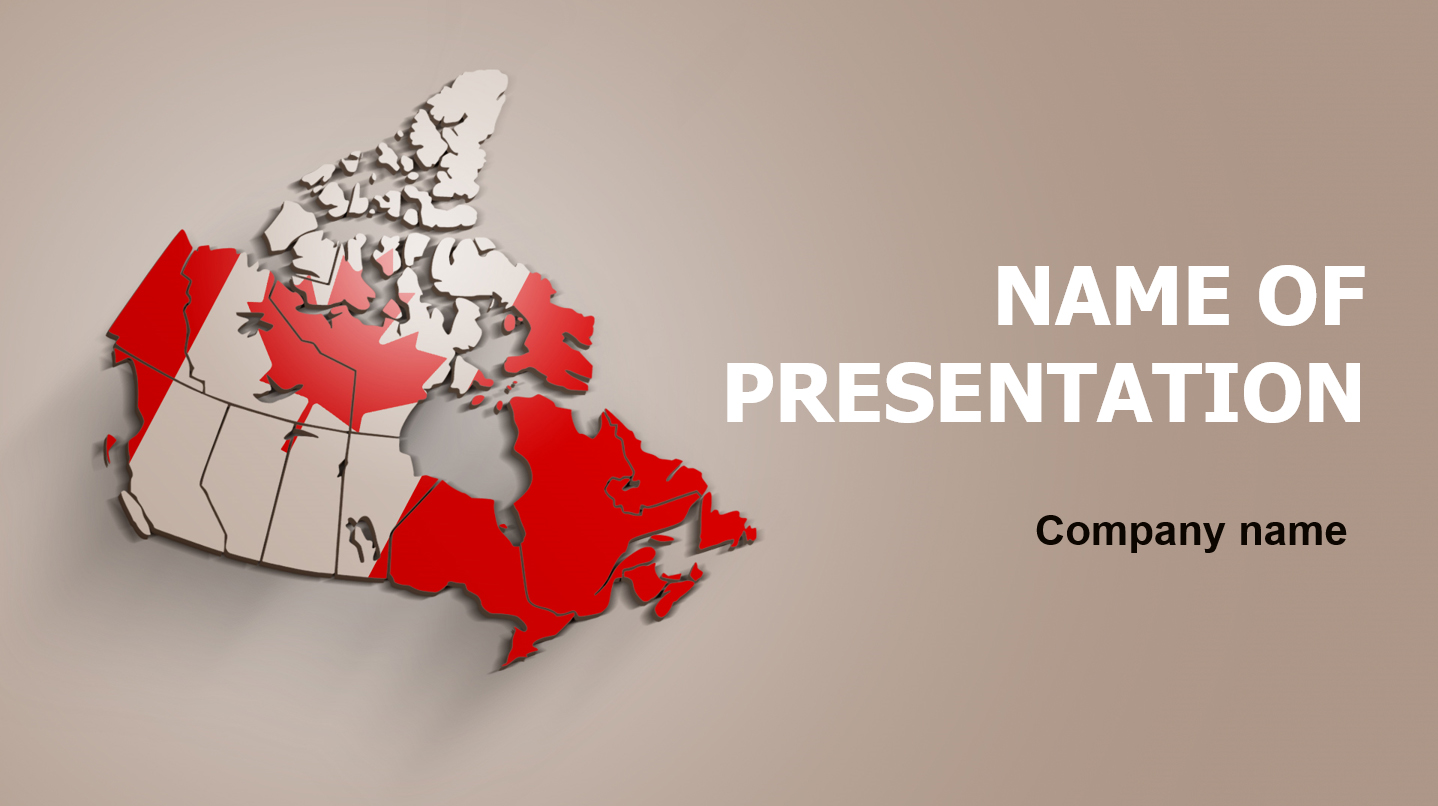 download free beauty canada powerpoint theme for presentation