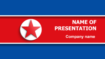 Flag of North Korea PowerPoint theme