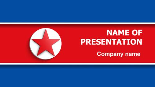 Flag of North Korea PowerPoint theme