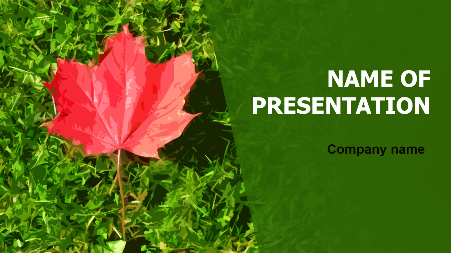Free Beauty Leaf powerpoint templatepresentation