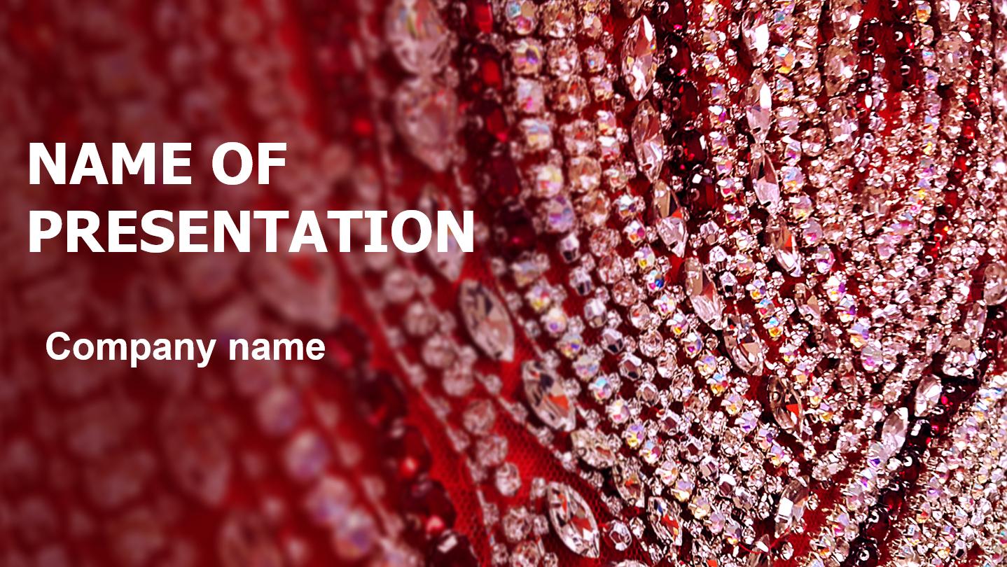 Free Shiny Glitters powerpoint template presentation