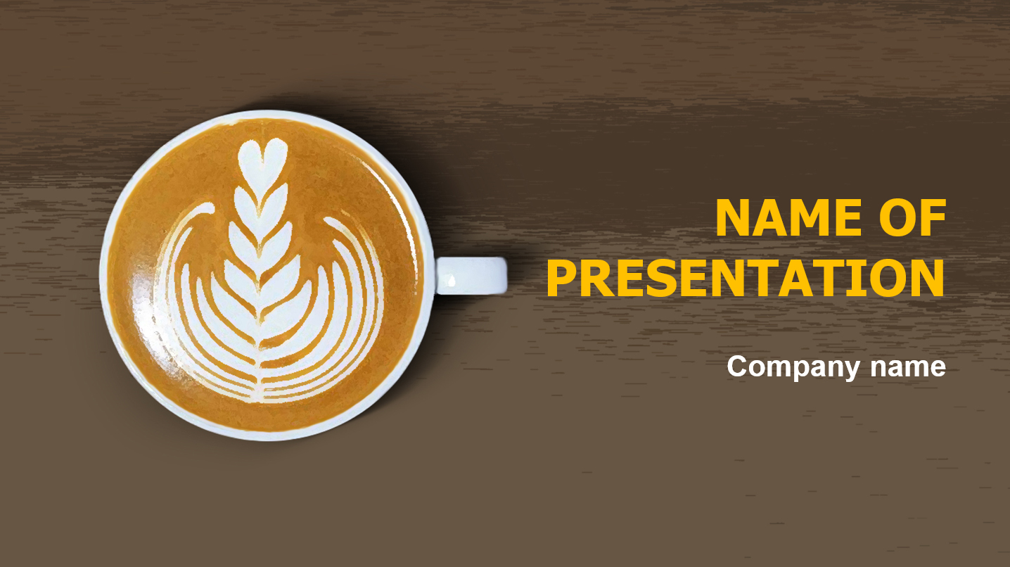 download free meet coffee powerpoint theme for presentation