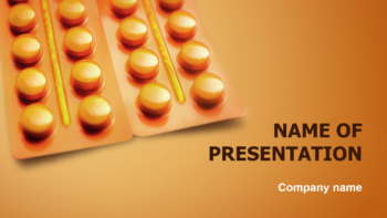 Orange Medicines PowerPoint theme