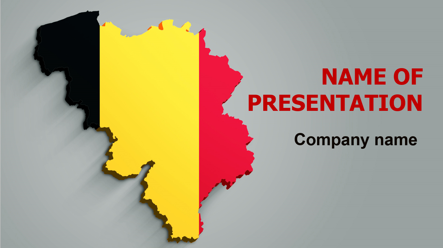 Belgium Flag powerpoint template presentation