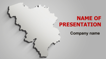 Gray Belgium Map PowerPoint theme