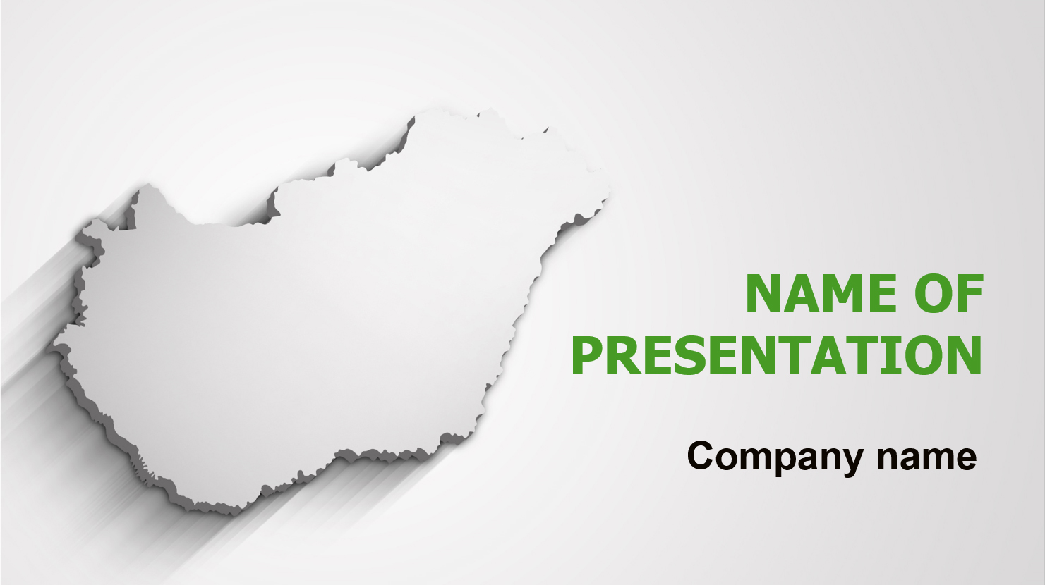 Gray Hungary Map powerpoint template presentation