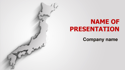 Gray Japan Map PowerPoint theme