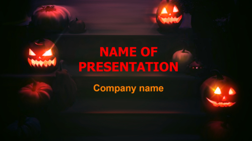 Free Halloween Ghosts Eyes PowerPoint theme