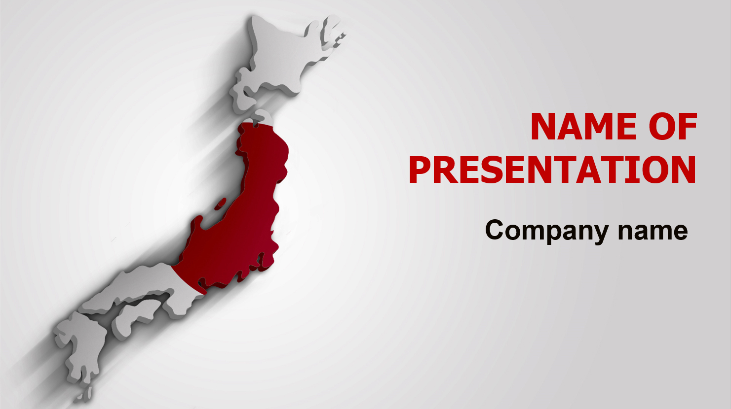 download free japan flag powerpoint theme for presentation