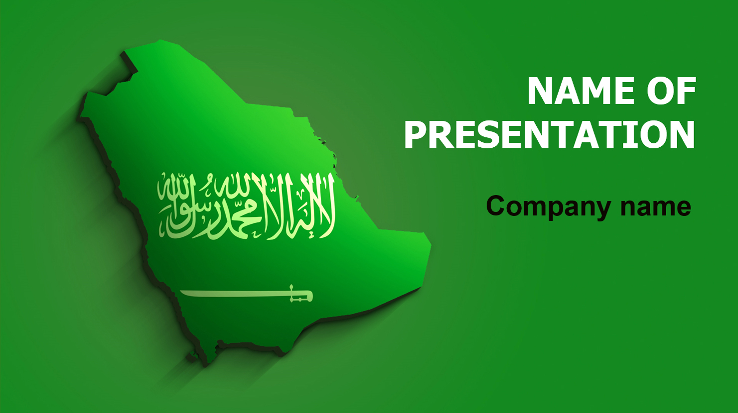 download free saudi arabia flag powerpoint theme for