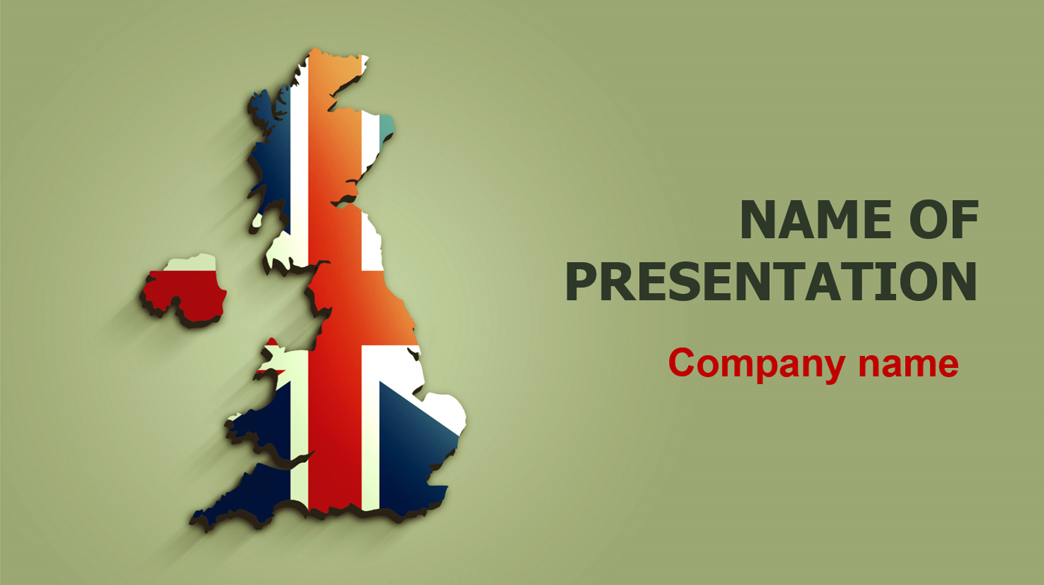 United Kingdom Flag powerpoint template presentation