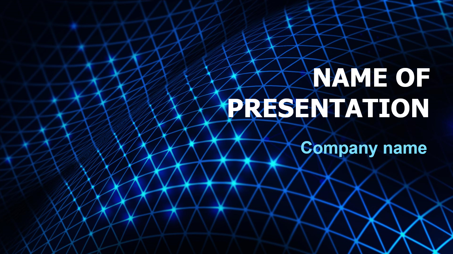 Block Chain powerpoint template presentation