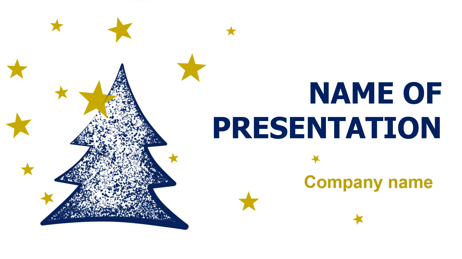 Christmas Stars powerpoint template presentation