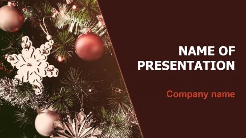 Free Christmas Bubbles PowerPoint theme