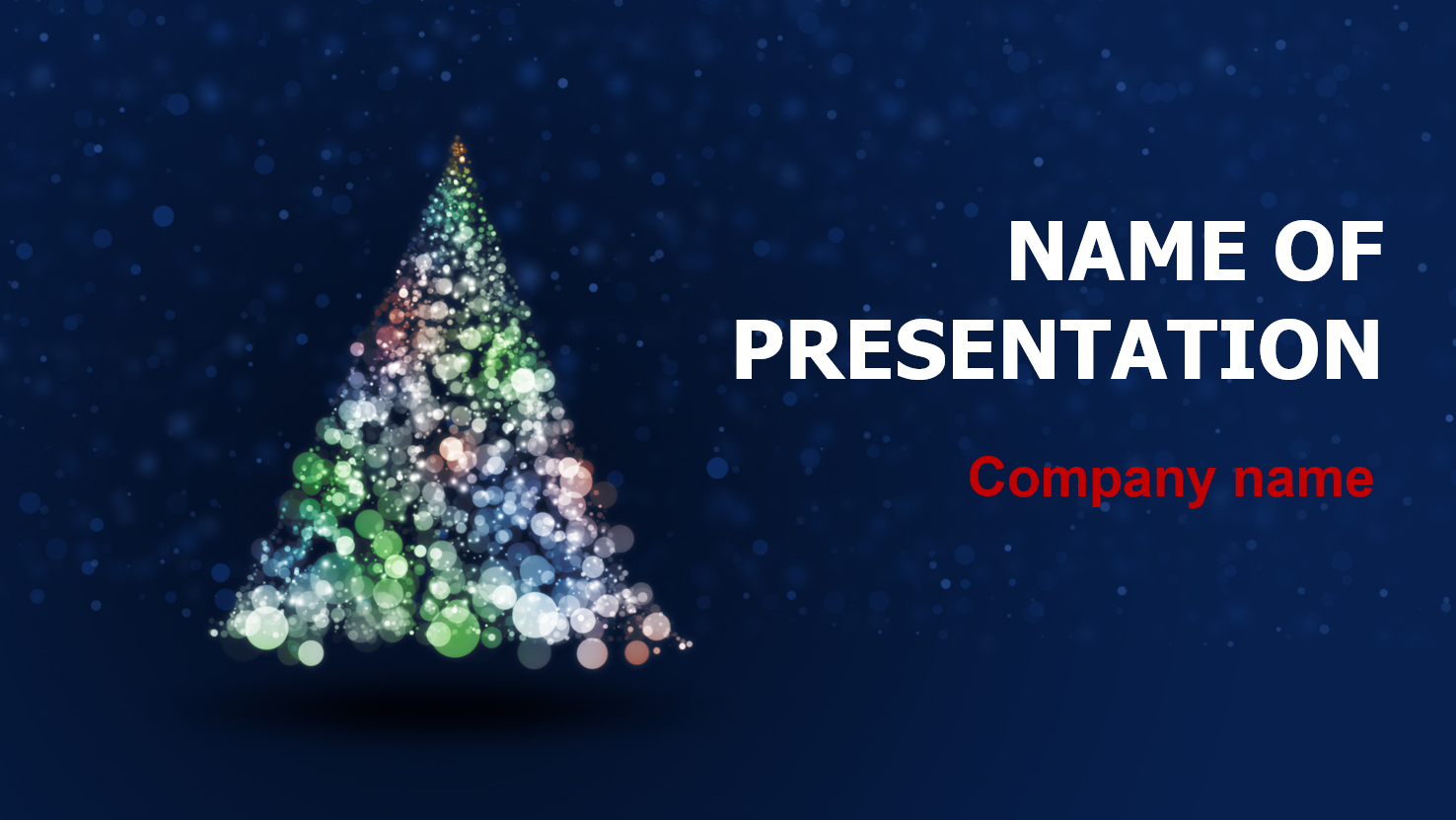 Free Christmas Fantasy powerpoint template presentation