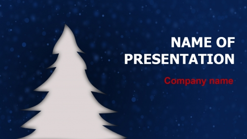 Free Christmas In Blue PowerPoint theme