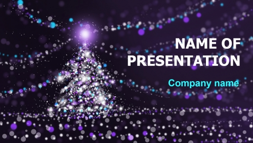 Free Christmas Lights PowerPoint theme