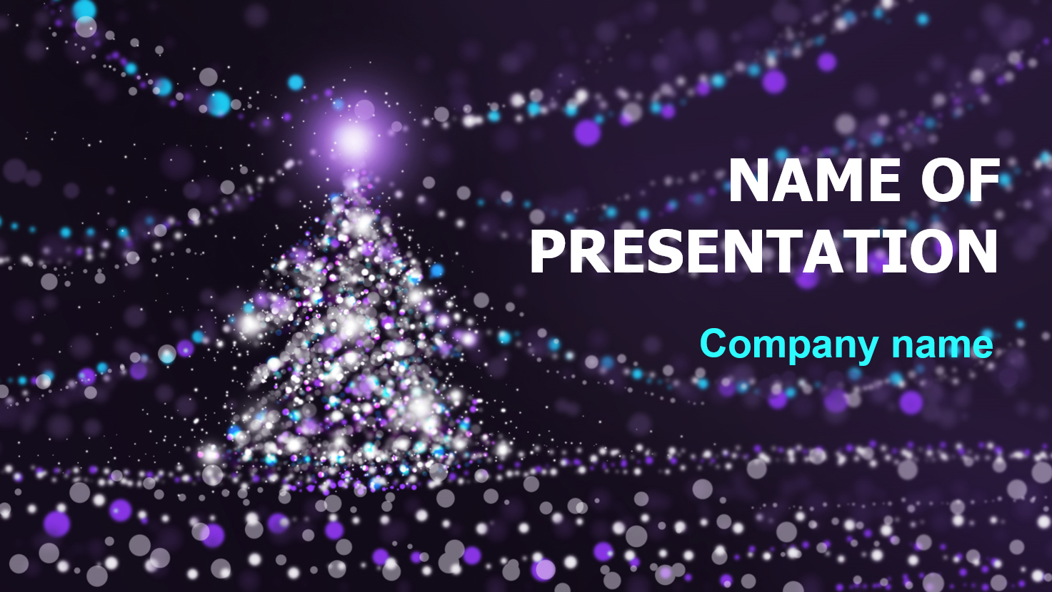 download free free christmas lights powerpoint theme for presentation, Powerpoint templates