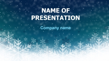 Free Deep Winter PowerPoint theme