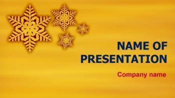 FreeGold Snowflakes PowerPoint theme