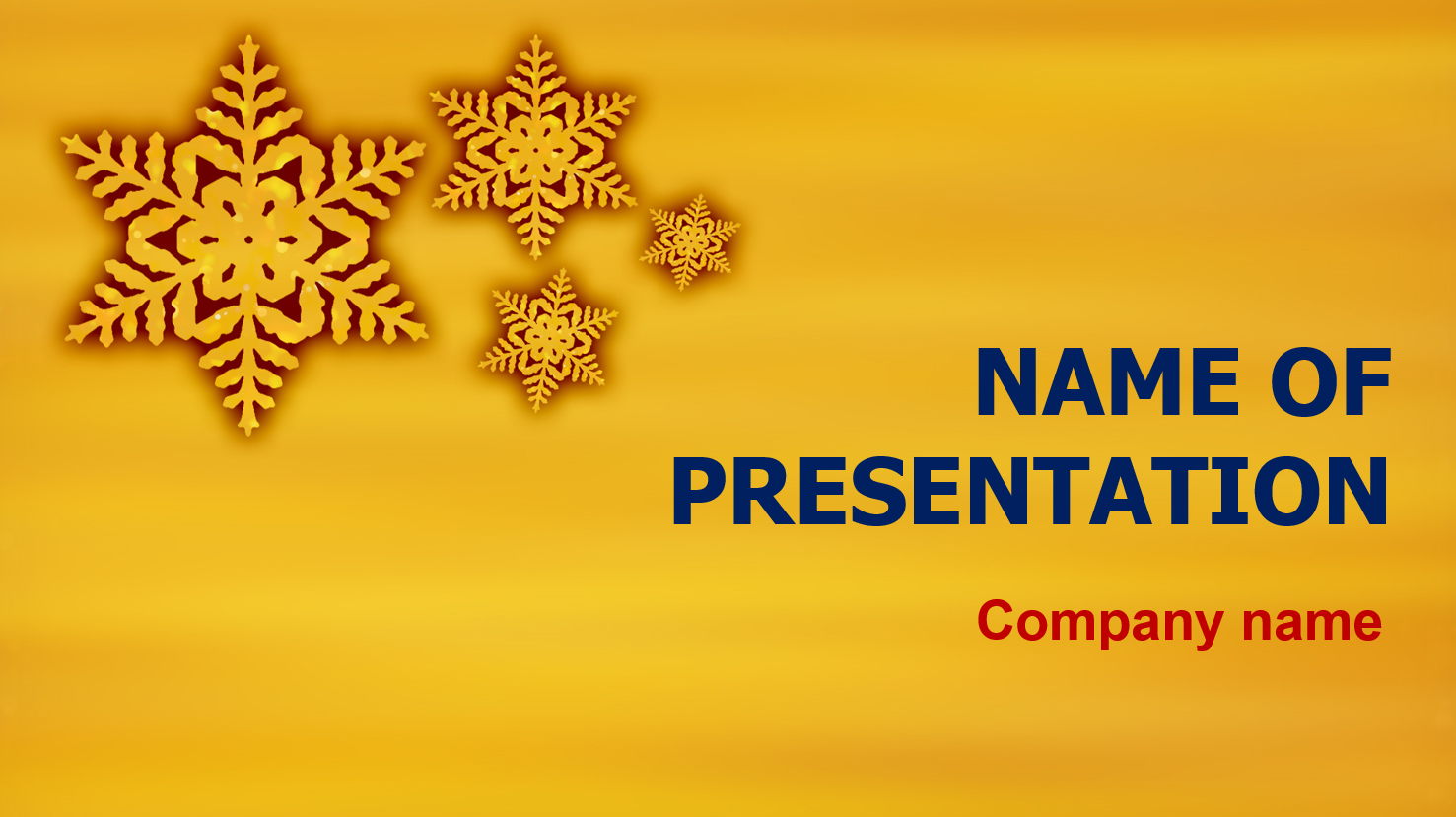 download free free gold snowflakes powerpoint theme for presentation