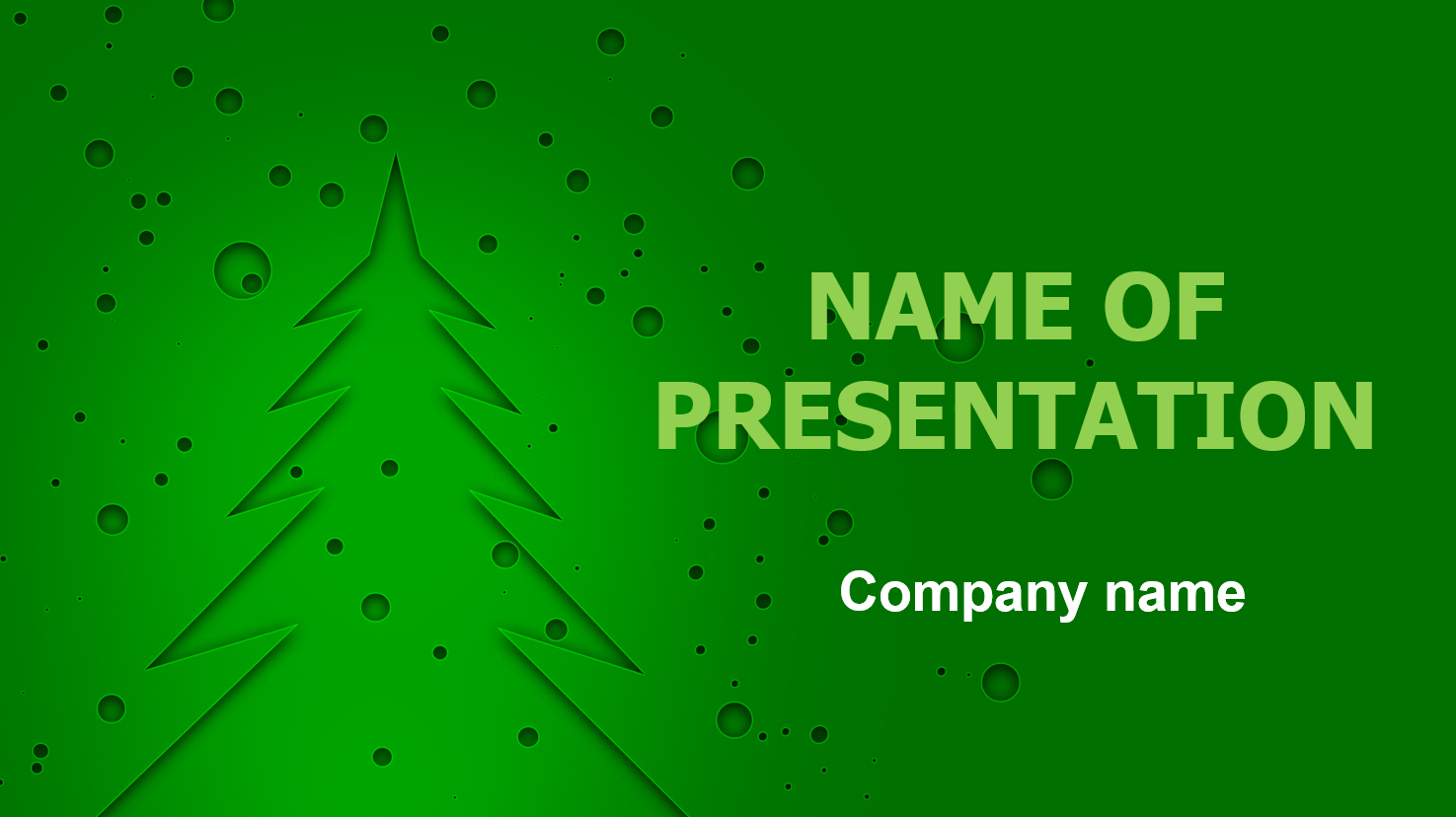 Snow And Christmas Tree powerpoint template presentation