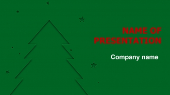 Free X-mas TreePowerPoint theme