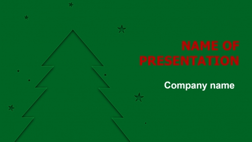 Free X-mas Tree PowerPoint theme