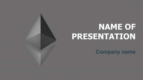 Free Ethereum Price PowerPoint theme