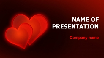 Free Valentines Love PowerPoint theme
